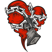 Chained heart png. Men s t shirt