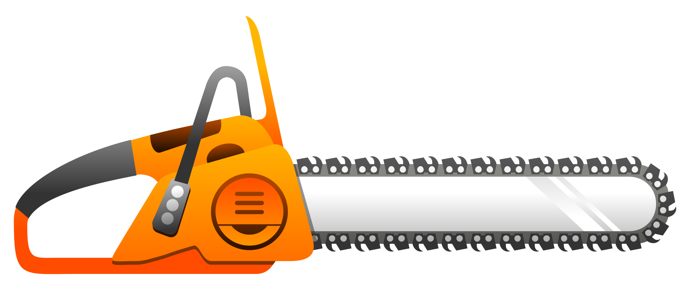 Chain saw blade png. Chainsaw clipart simple pencil