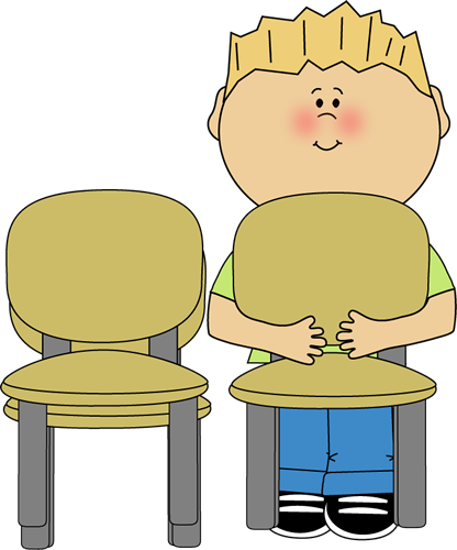 Chair clip classroom. Stacker art vector image