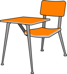 Chair clip empty. Student desk art at