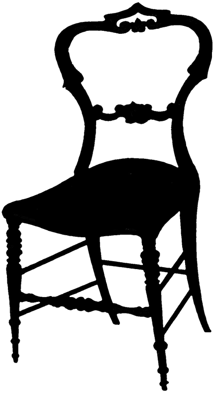 Chair clip printable. Frenchychairsilhouette graphicsfairy png wordt
