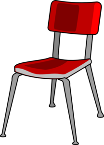 Chair clip red. Clipart