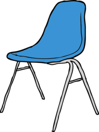 Drawing chairs classroom. Collection of free fumetere