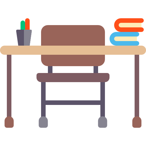 Chair clip teacher. Education furniture and household