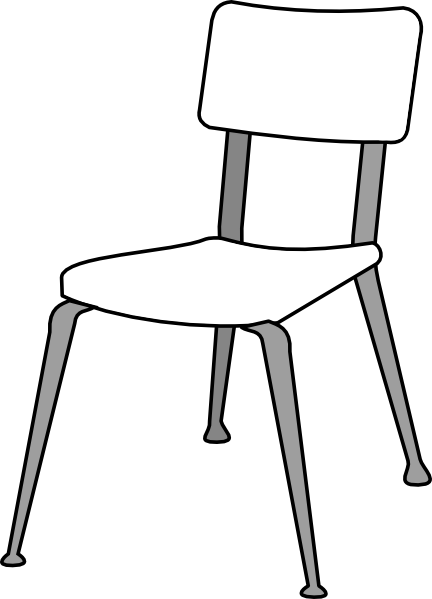 Chair clip black and white. Clipart panda free images