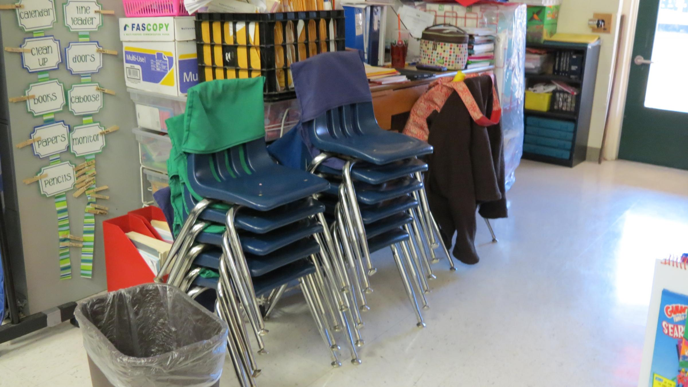 Chair clipart class chair. Stacking chairs a very