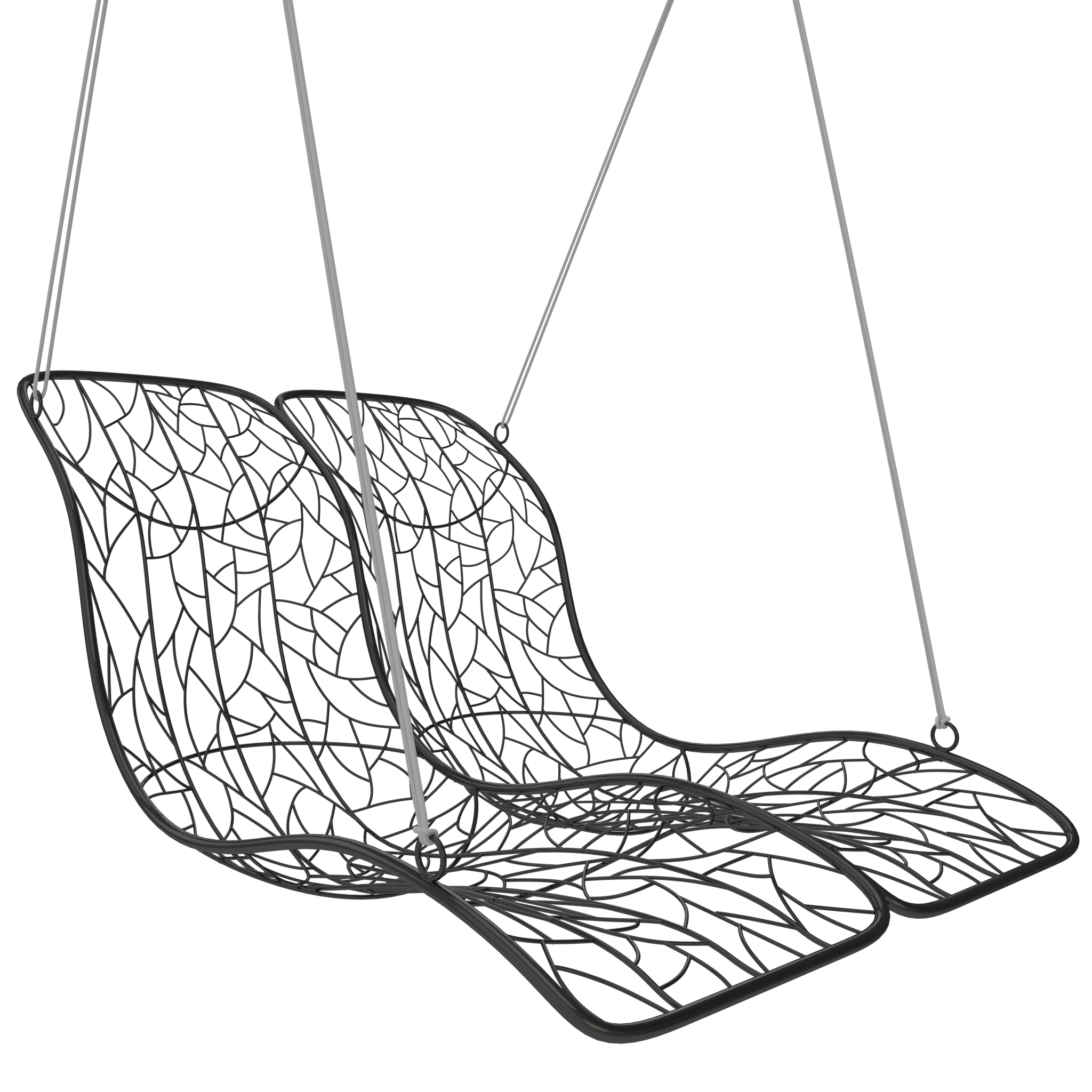 Armchair drawing lounge chair. Double recliner hanging contemporary