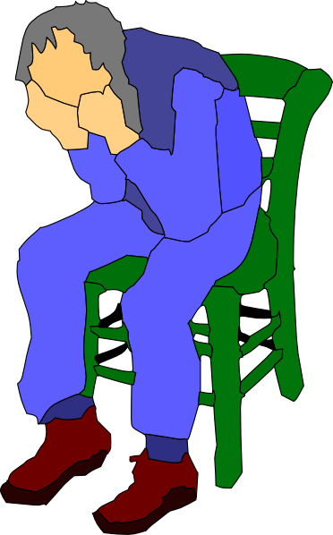 Chair clipart sit in. Man sitting on a