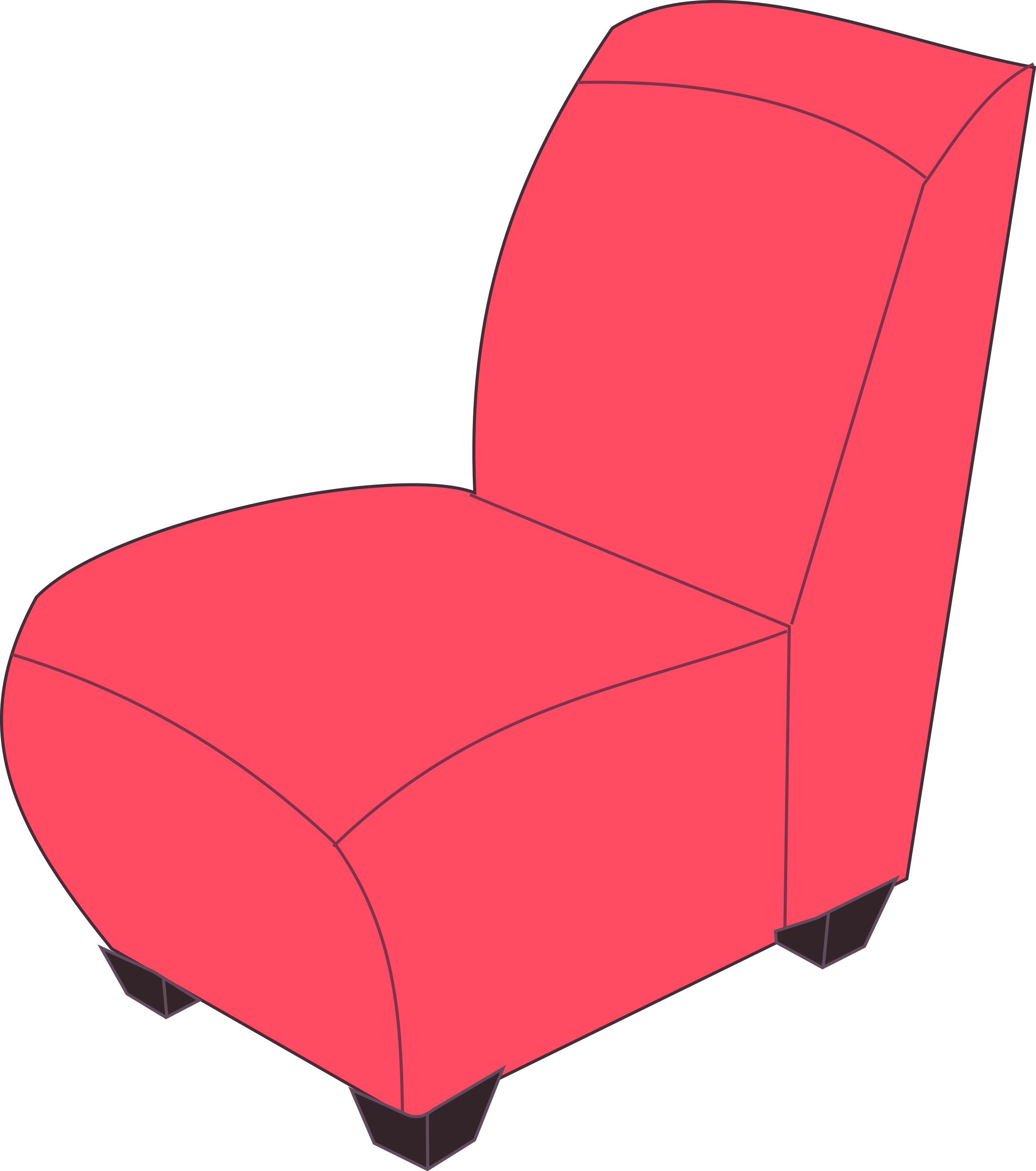 Chair clipart soft chair. Red armless big image
