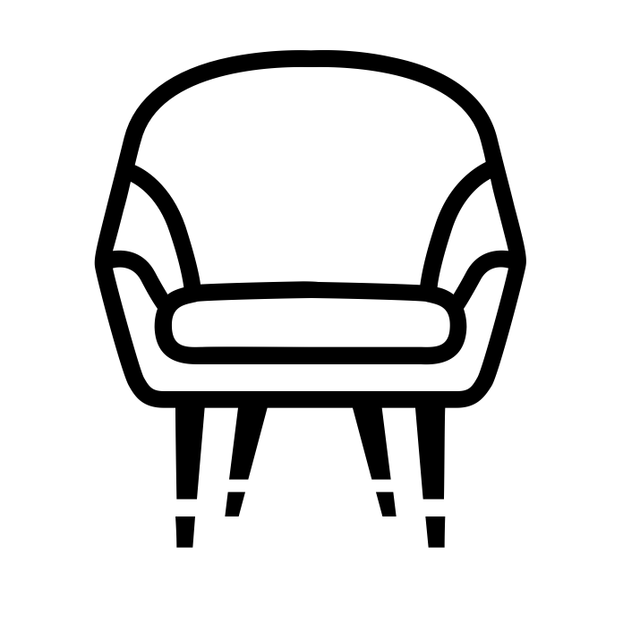 Chair clipart soft chair. Lounge chairs benches collective