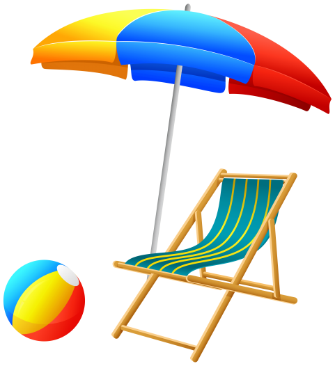 Chair clipart volleyball. Beach umbrella with and