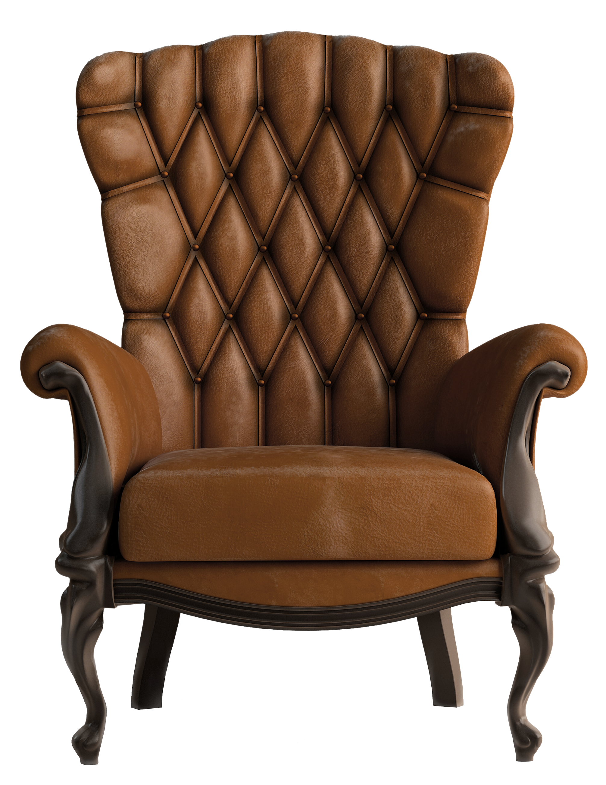Chair clip leather. Transparent brown png clipart