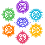 Chakras vector. Signs and symbols triskele