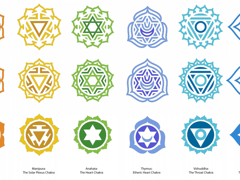 Vector plexus shape atlas. Chakra symbols royalty free