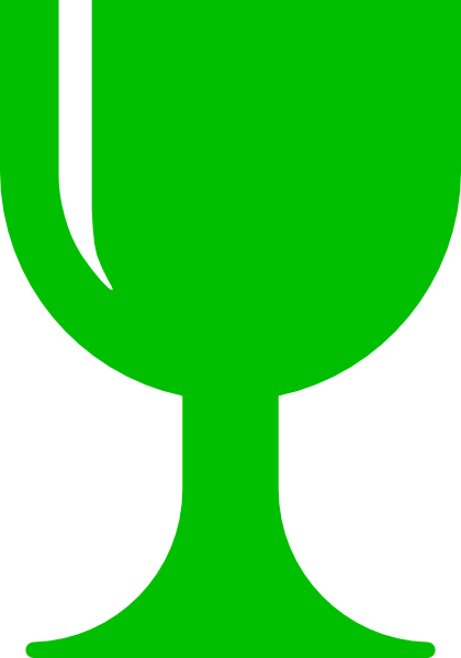Chalice clipart. Green clip art at