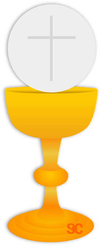 Chalice clipart body blood. Eucharistic host