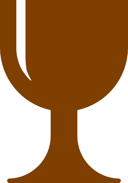 Chalice clipart svg. Brown clip art at