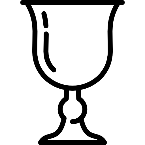 Chalice vector. Christian free shapes icons