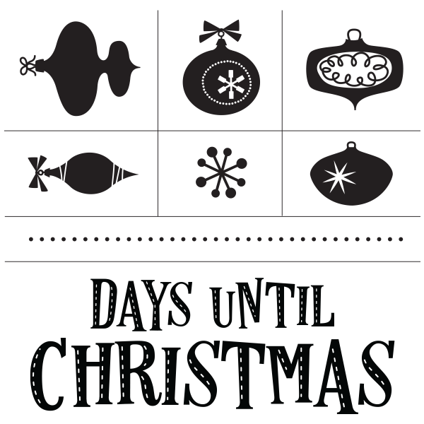 White chalk ornaments png. Countdown transfer dats until
