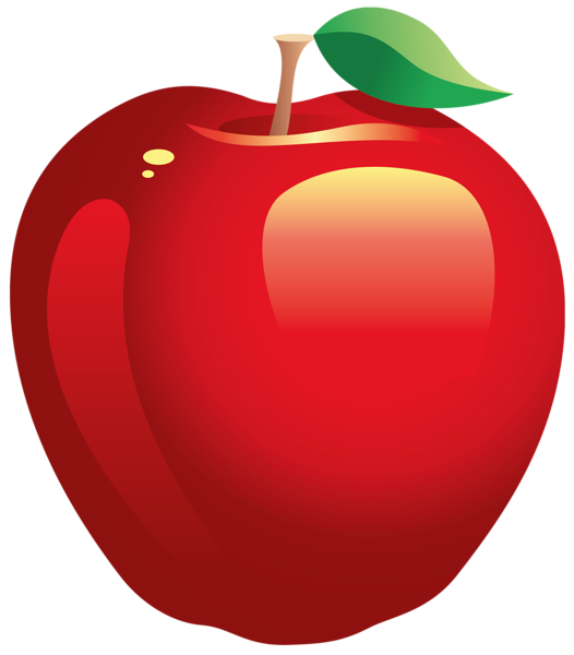 Chalk apple png. Large painted red clipart
