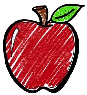 Chalk apple png. Clipart great free silhouette