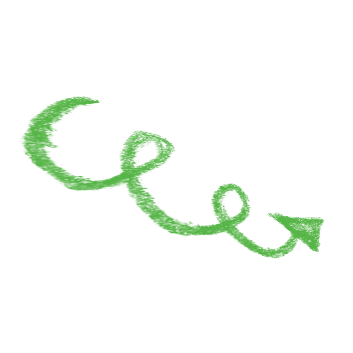 Chalk arrow png. Free green to pull