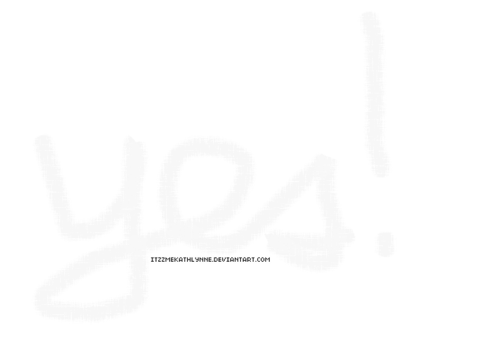 Chalk art png. Yes word style by