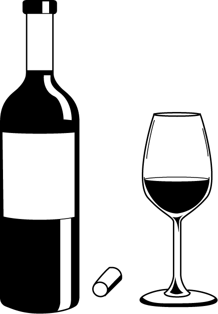 Chalk baby bottle png. Wine silhouette at getdrawings