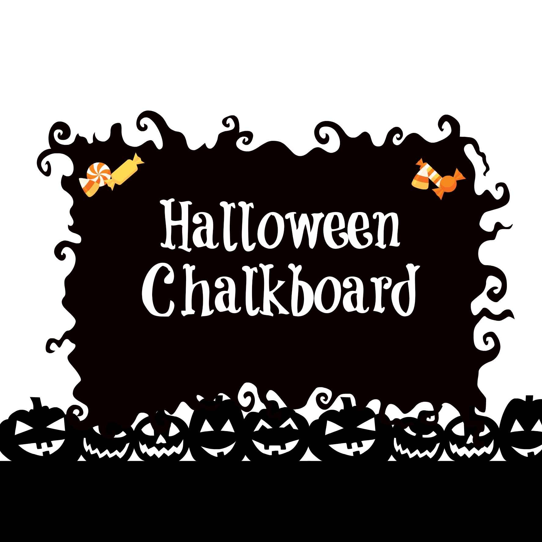 Chalk banner png. Halloween chalkboard patina and