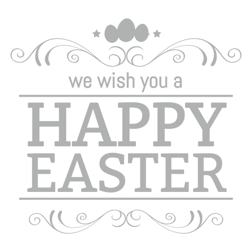 Happy easter png different font. Chalk label transparent svg