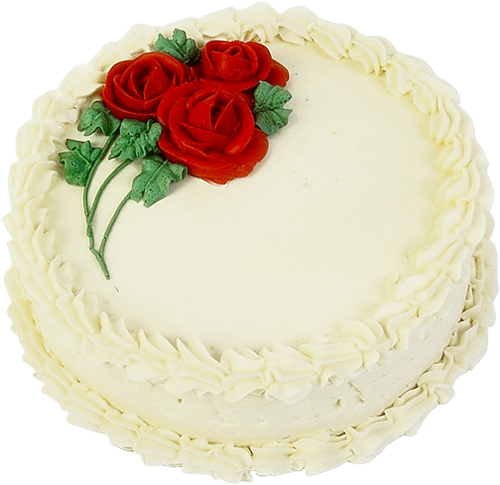 Chalk cake png. White with roses picture