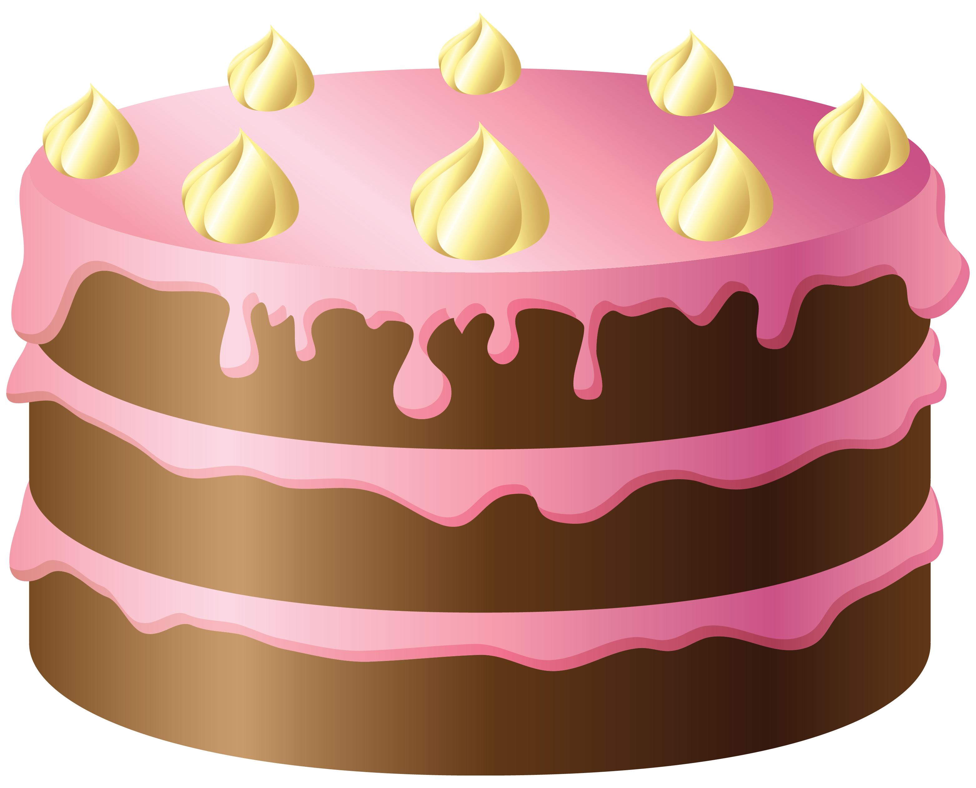 Chalk cake png. Chocolate with pink and