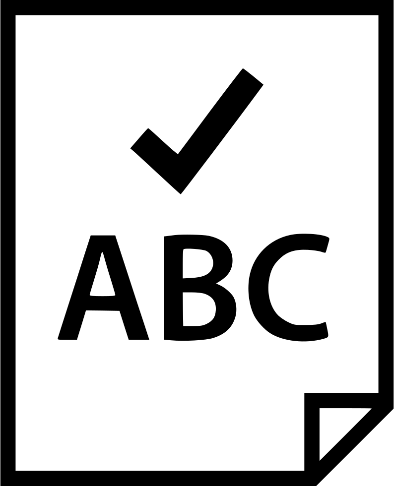 Chalk check box png. Mark abc svg icon