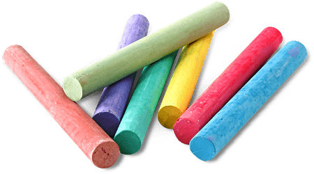 Drawing chalk colorful. Transparent png pictures free