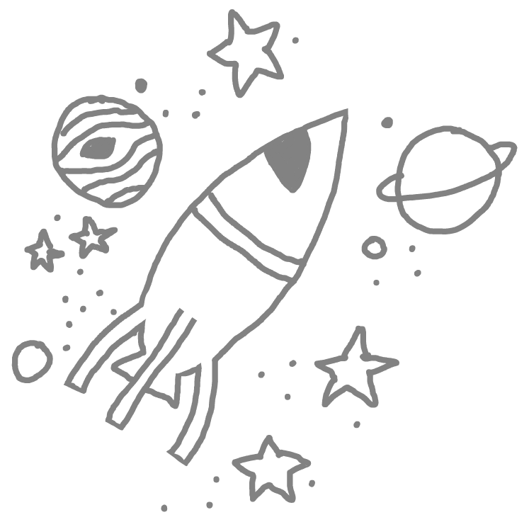 White doodle png. Space spaceship outerspace planets