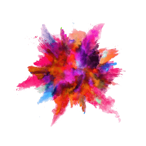Chalk explosion png. Color powder free images