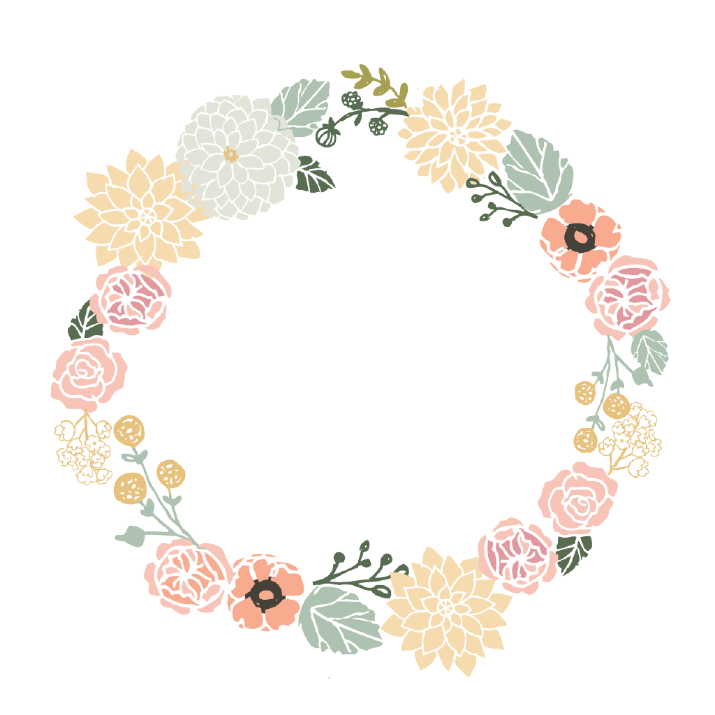 Floral wreath png. Forever young kids set