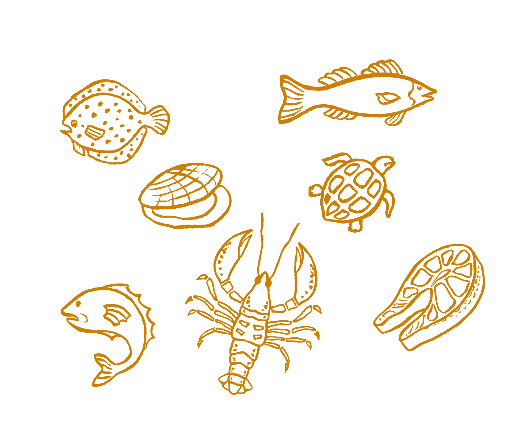 Vector chalkboard drawing. Crab food illustration chalk
