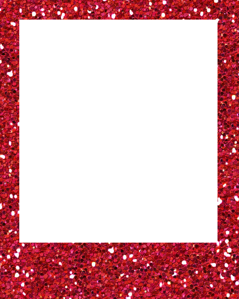 Polaroid outline png. Red glitter sweetly scraped