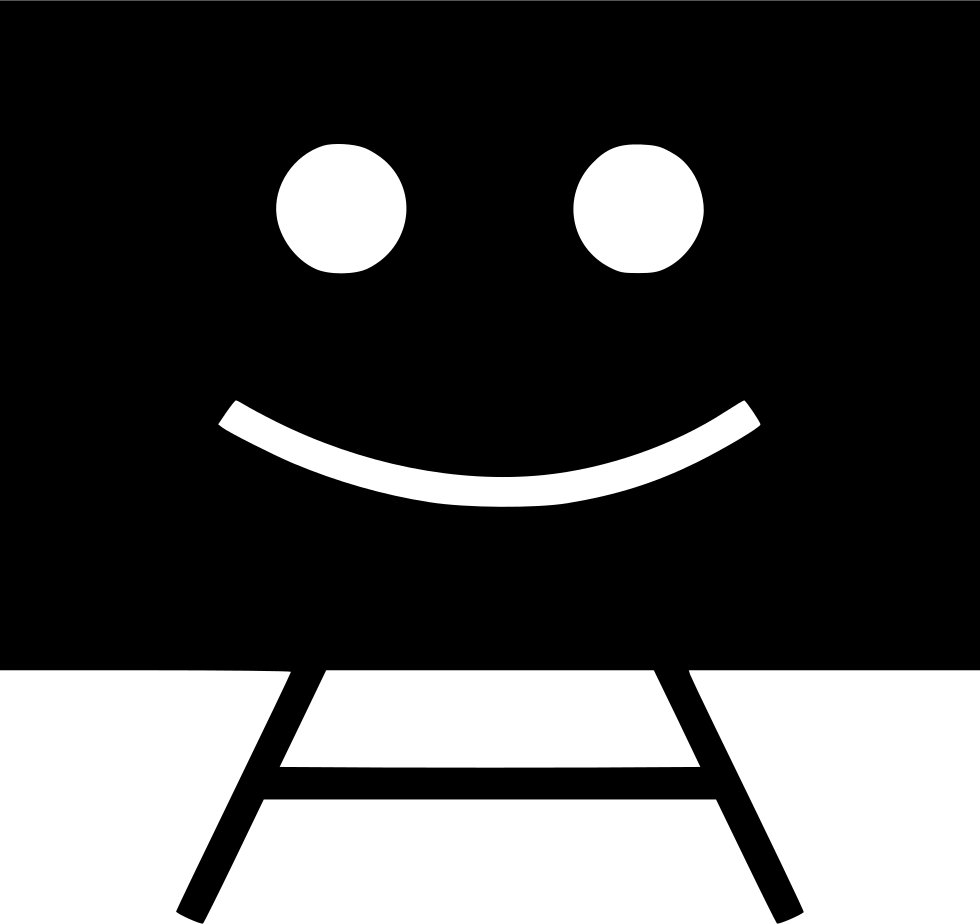 Chalk icon png. Board smile svg free