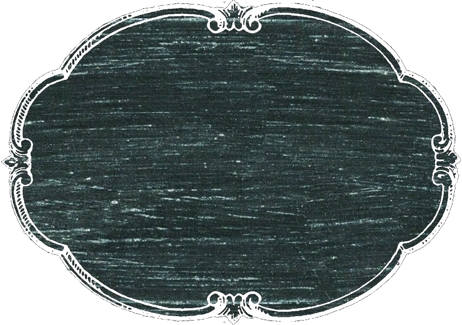 Chalkboard transparent old. Horizonal oval label or