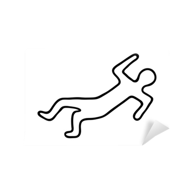 Chalk outline body png. Of a dead wall