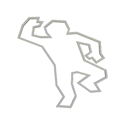 Chalk outline png. P d in