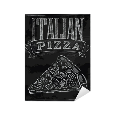 Chalk pizza png. Sticker pixers we live