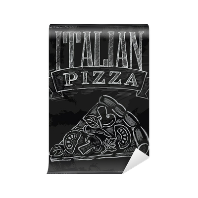 Chalk pizza png. Wall mural pixers we