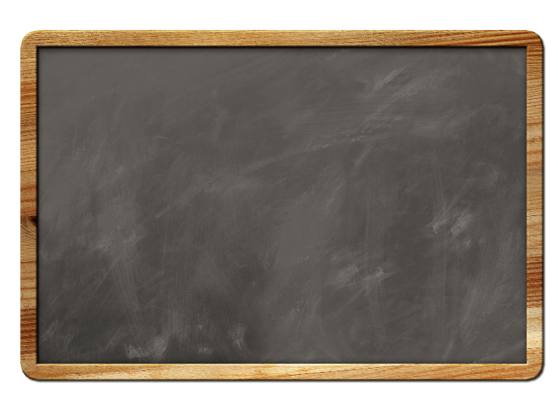 Blank chalkboard png. Background with border isolated