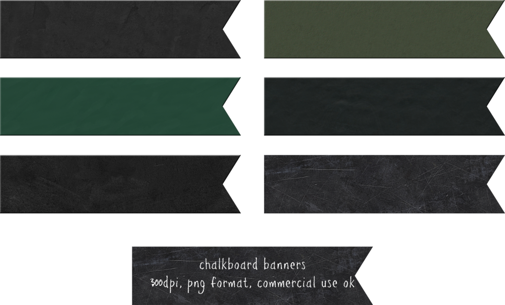 Chalkboard ribbon png. Banners by hggraphicdesigns on