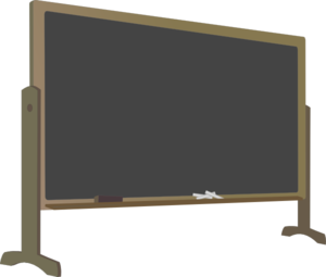 Vector chalkboard art. Blackboard with stand clip