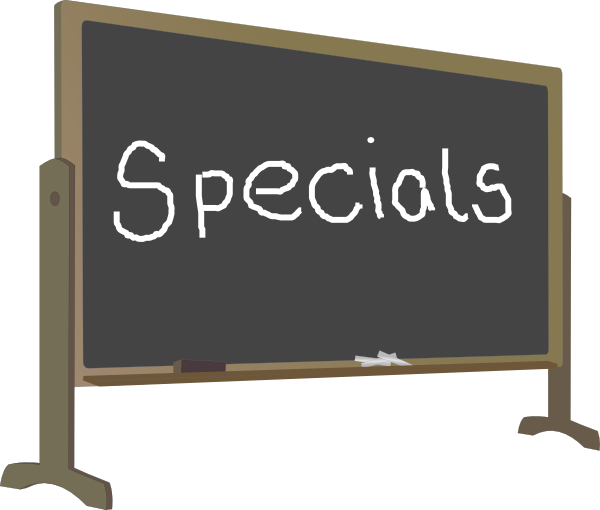 Special clipart special offer. Chalkboard frame clip