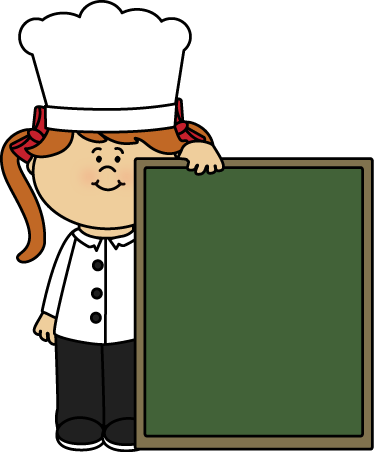Chalkboard clipart png. Girl chef and clip